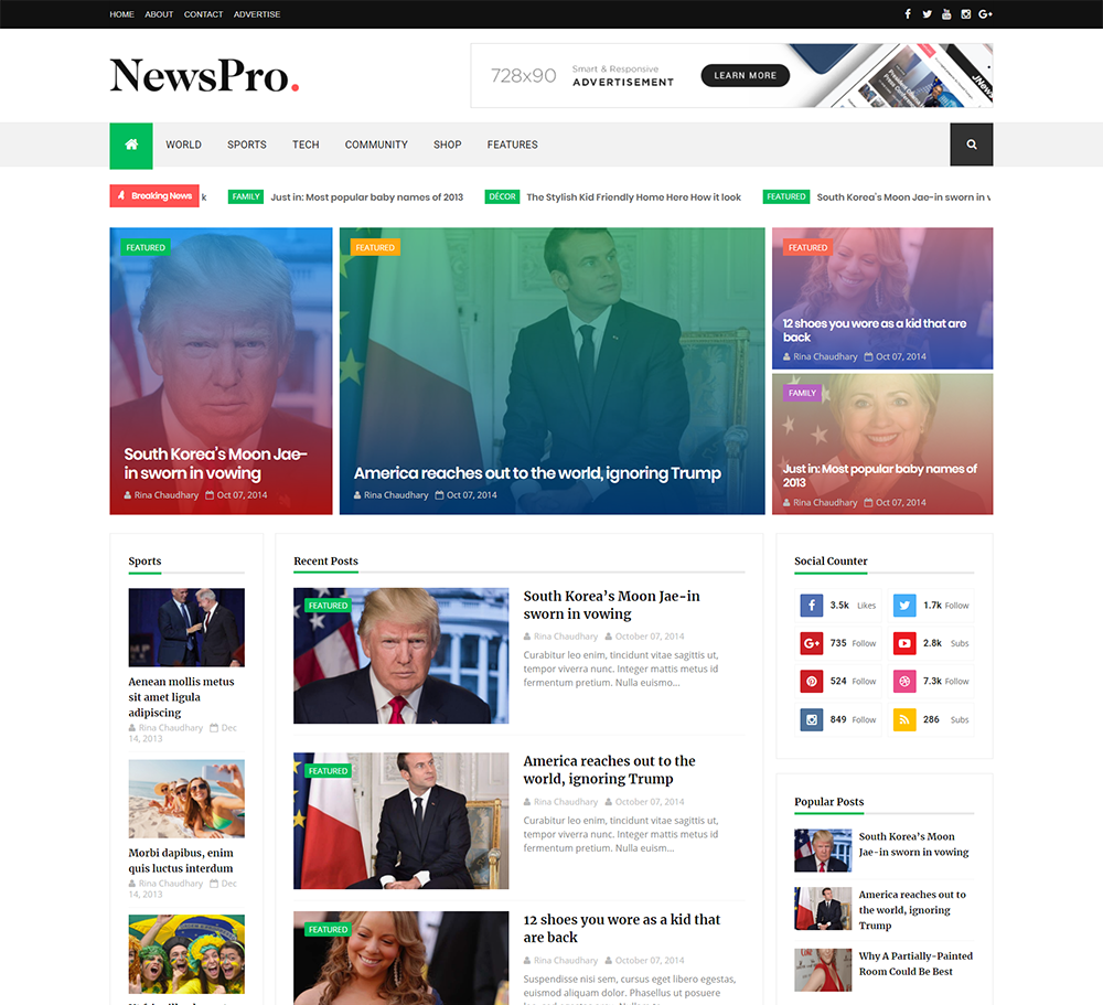 Best Info And News Site: NewsPro Blogger Template Documentation