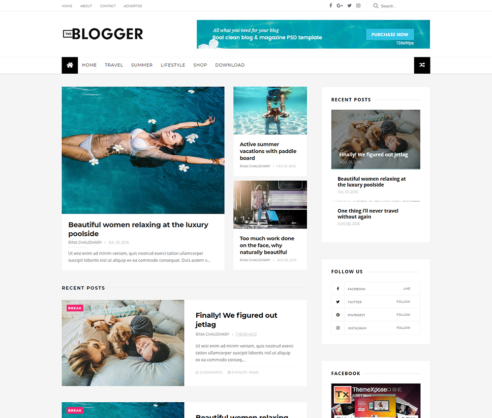 The blogger template documentation themexpose for Design your own blogger template free