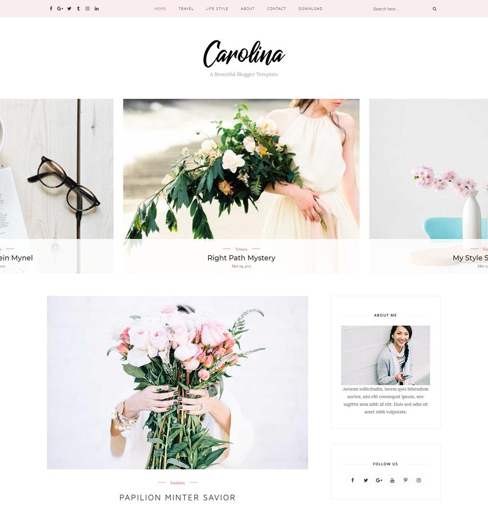 Carolina Blogger Template Doentation