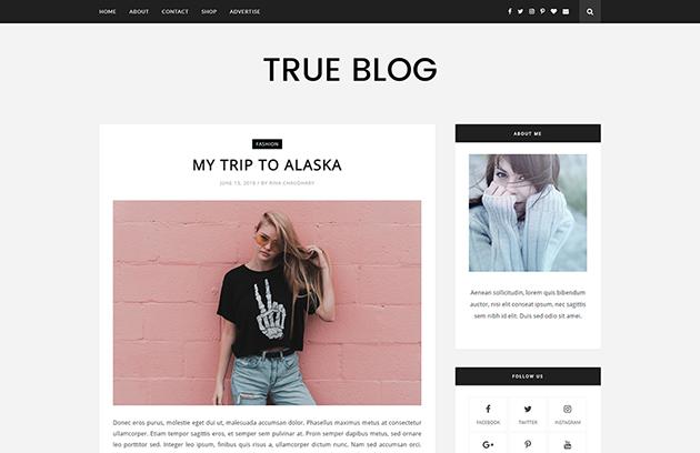 Trueblog Blogger Template Doentation