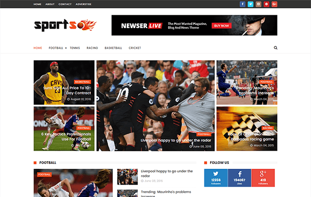 sportsmag-blogger-template